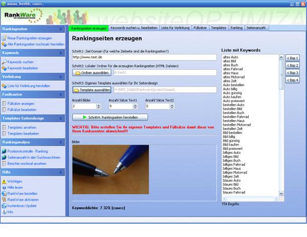 RankWare screenshot